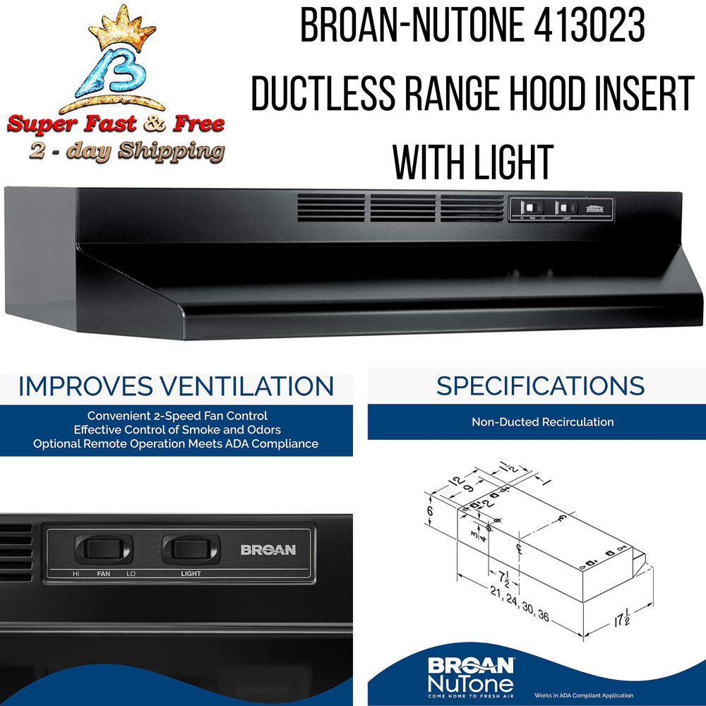 Stove Top Hoods ~ Broan non ducted range hood stove top vent hoods kitchen