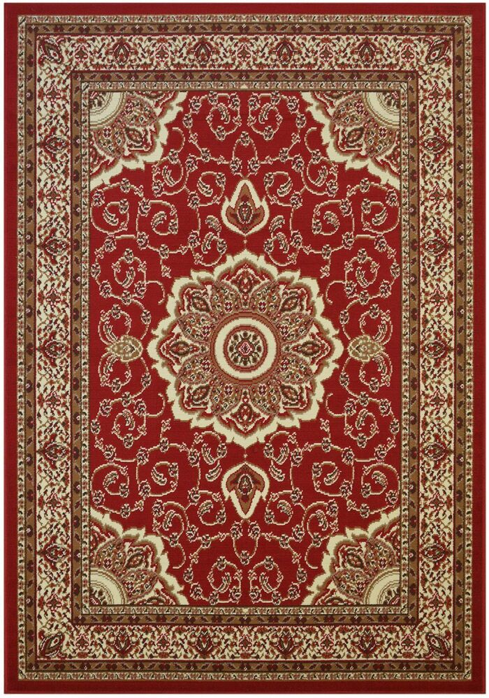 Isfahan Red Traditional Area Rugs Carpet 2x3 2x7 5x7 8x10