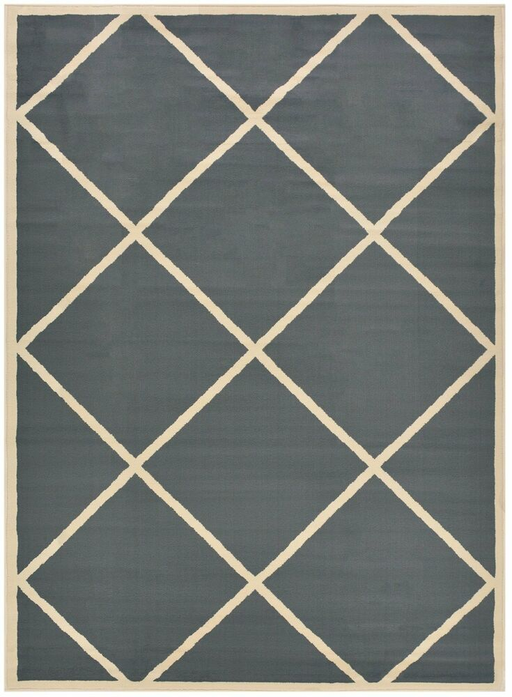 Grey Trellis Modern Area Rugs Lattice Gray Trellis Carpet
