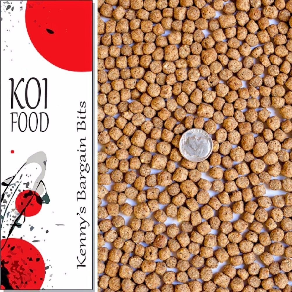 25 lbs bulk koi fish food 32 protein large floating pond