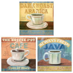 Fresh Brewed Coffee Cafe Kitchen Wall Decal Set Vintage Style Home Decor Bundle