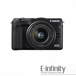 NEW Canon EOS M3 Mirrorless Camera + EF-M 15-45mm f/3.5-6.3 IS STM Lens (Black)