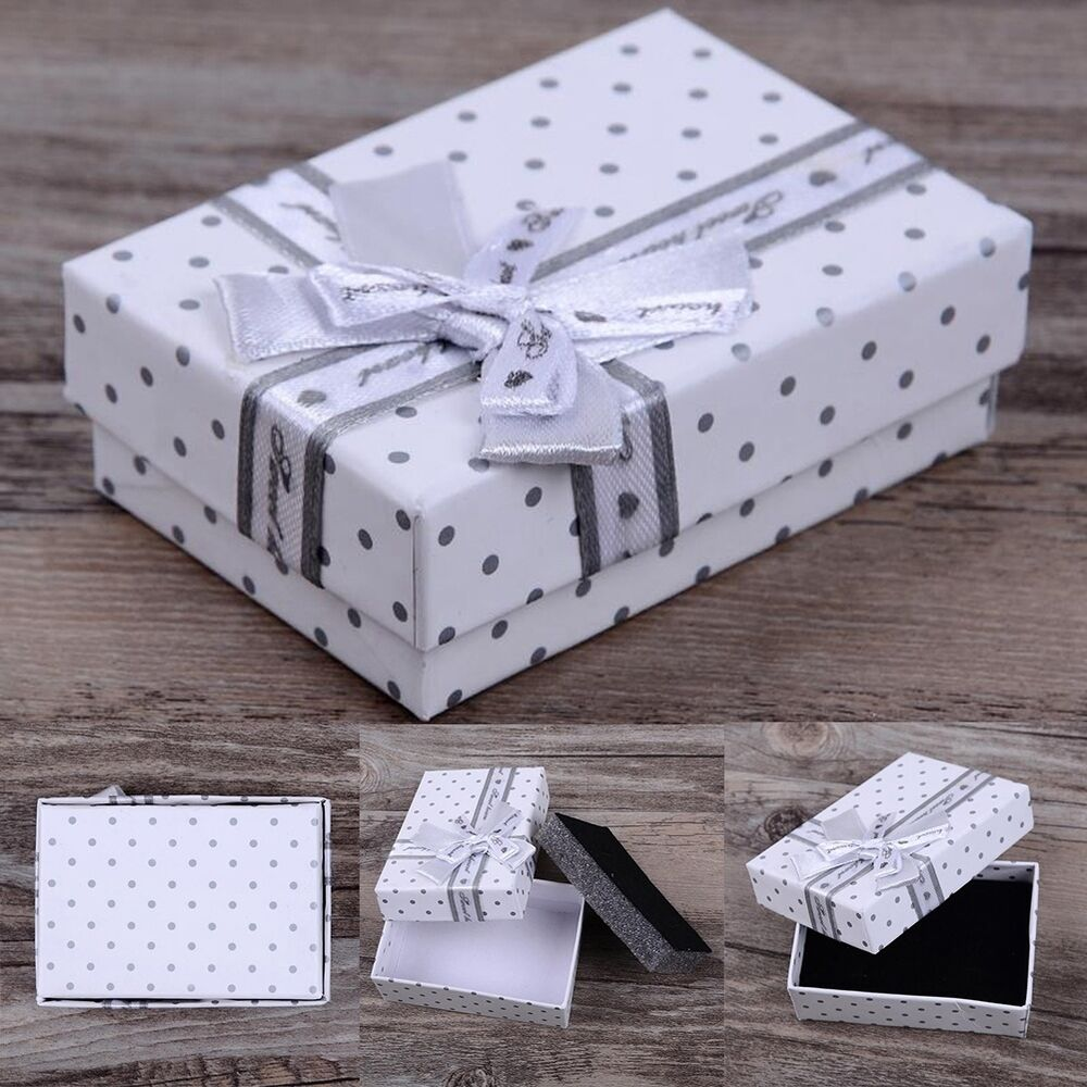 5pcs lots jewelry gift paper boxes ring earring necklace. Black Bedroom Furniture Sets. Home Design Ideas