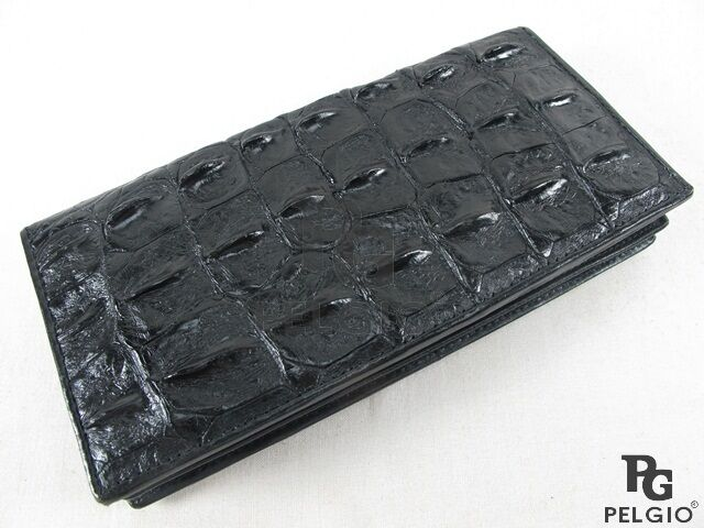 Pelgio Crocodile Alligator Backbone Skin Leather Checkbook