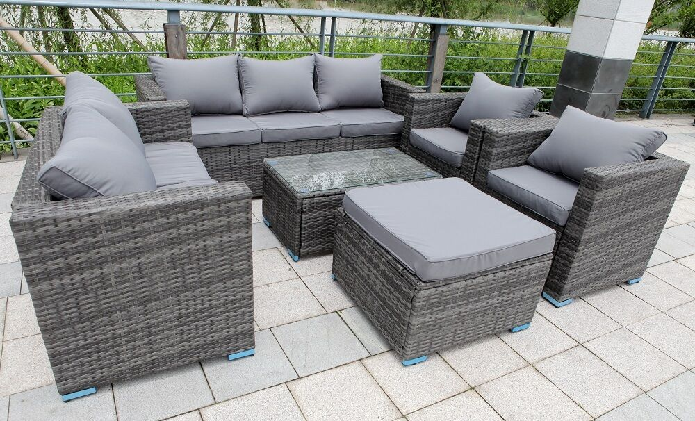 grey rattan garden furniture set sofa chairs conservatory grey patio furniture canada grey patio furniture sets