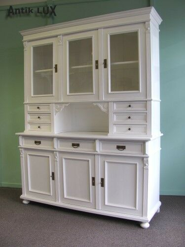 traumhaftes buffet im landhausstil shabby chic weiss weichholz vitrine schrank ebay. Black Bedroom Furniture Sets. Home Design Ideas