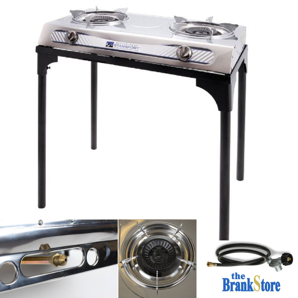 Propane Burner Stove w Stand Double Outdoor Camping ...