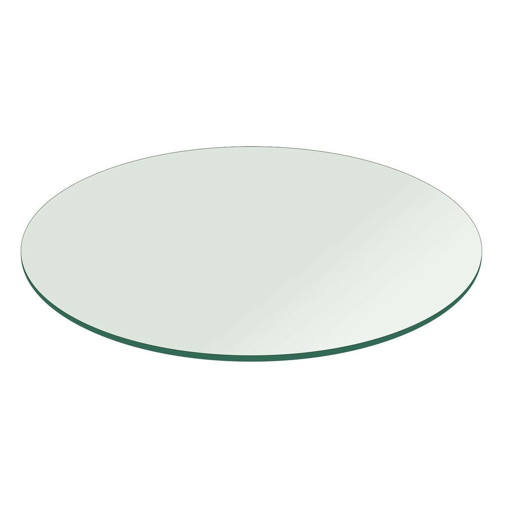 fab glass and mirror round clear glass table top with flat. Black Bedroom Furniture Sets. Home Design Ideas