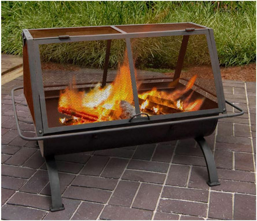 Patio fire pit heater outdoor fireplace furniture bbq for Fireplace and bbq