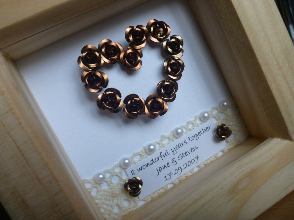 Gift Ideas For 8th Wedding Anniversary: Shabbie Chic 8th 19th Bronze Wedding Anniversary Gift