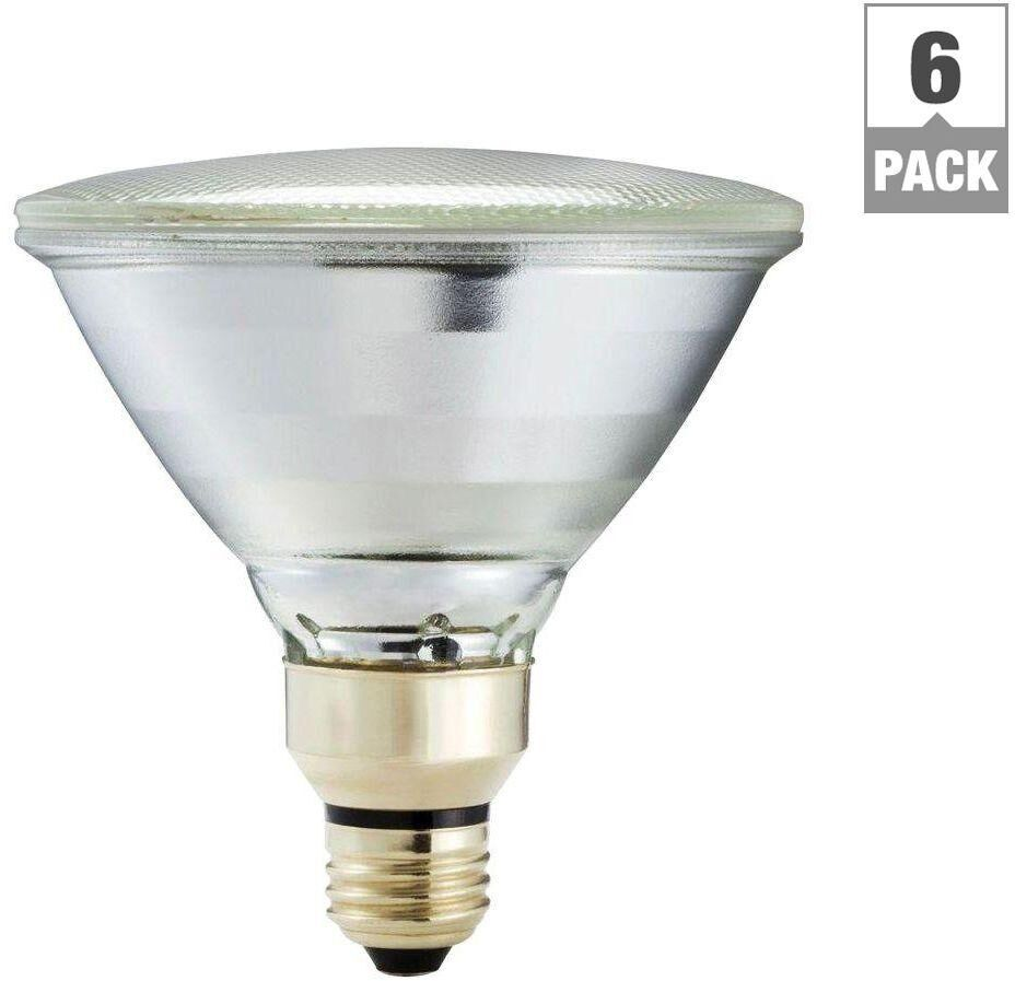 6 Pack Dimmable Flood Light Bulb Indoor/Outdoor 90 Watt