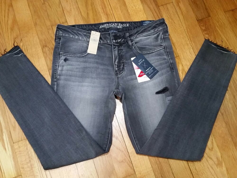 Gray Womens Jeans