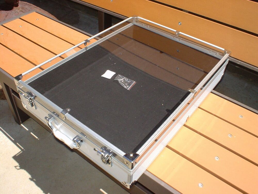 Portable Exhibition Display Cases : Display case quot x portable table top swap meet flea