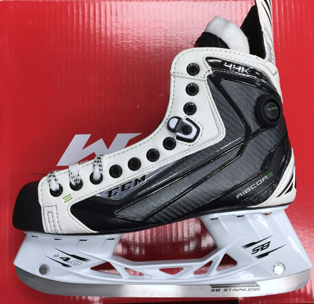 ccm ribcor 44k le limited edition white ice hockey skates senior new in box ebay. Black Bedroom Furniture Sets. Home Design Ideas