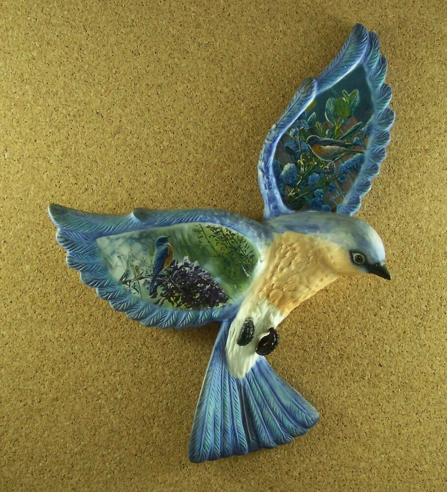 Treasured Wings BLUE BIRD BALLADS Plate 3D Sculpture Bird Fourth ...