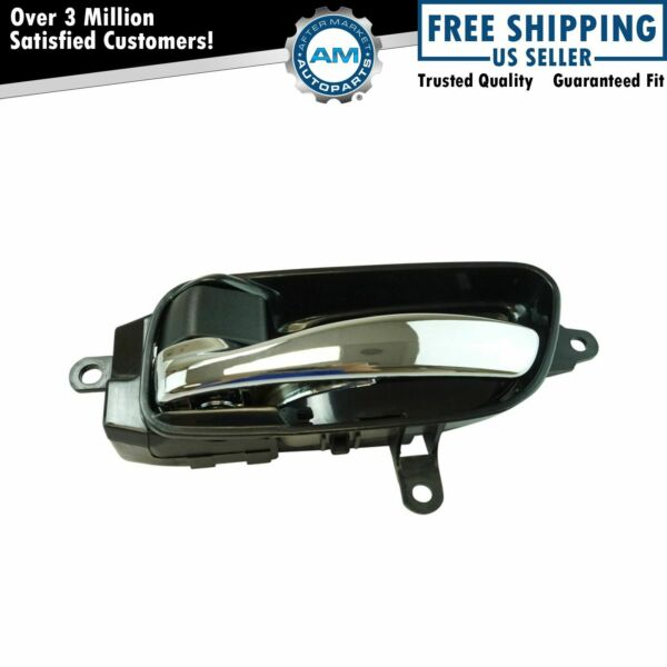 Inside Interior Door Handle Black & Chrome Driver Side LH for Altima Pathfinder