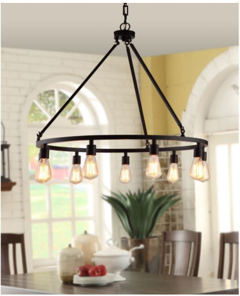 Edison Light Fixture Rustic Chandelier Farmhouse