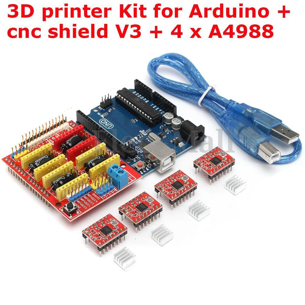 D printer board kit for arduino cnc shield v uno r