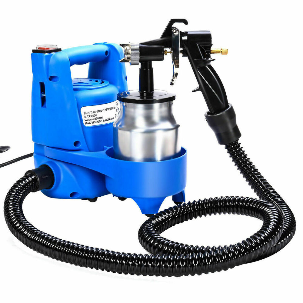 650w electric paint painting sprayer gun 3 ways w copper for Air or airless paint sprayer