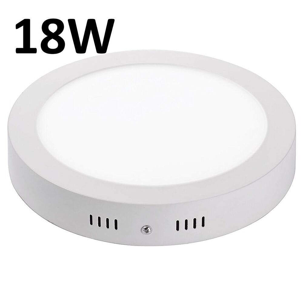 Surface Mounted Led Panel Light Circular Round Ceiling Downlight 18w Lamp Ebay