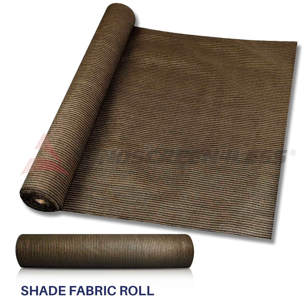 Custom 8 Ft Brown Fabric Roll Fence Privacy Sun Wind
