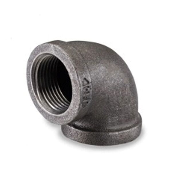 Quot malleable black iron pipe threaded ° elbow fittings