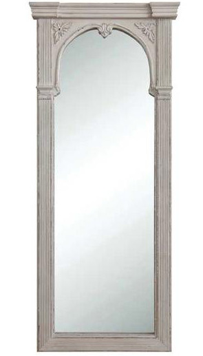 French Trumeau Mirror Shabby Distressed White Chic Floor