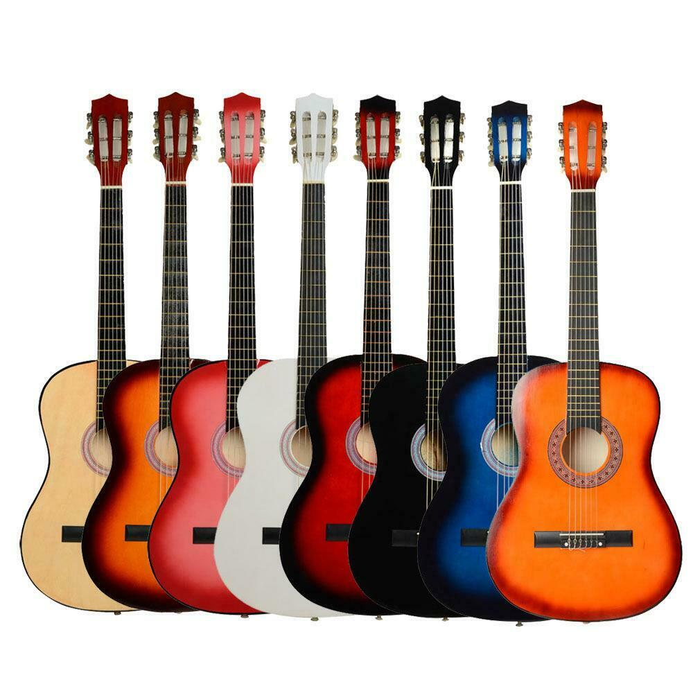 new 38 7 color 6 strings plywood classical acoustic folk guitar for beginner ebay. Black Bedroom Furniture Sets. Home Design Ideas