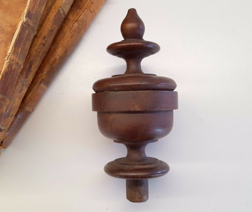 antique wood post finial end furniture