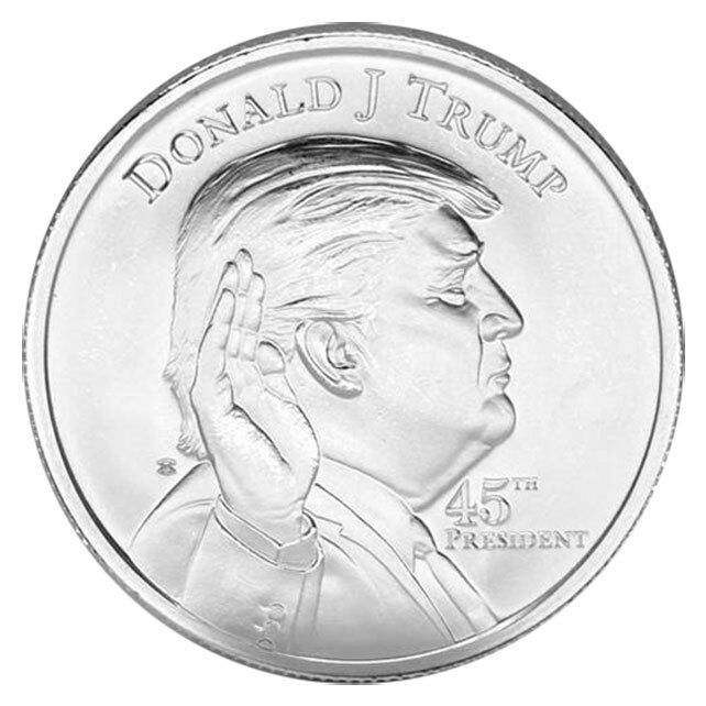 elemetal mint donald trump 1 oz 999 silver round made in the u s a sku45694 ebay. Black Bedroom Furniture Sets. Home Design Ideas