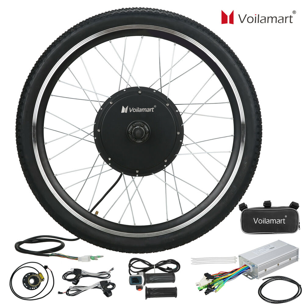 Electric Motor Kits For Push Bikes: 48V Front Wheel Electric Bicycle Motor Conversion Kit