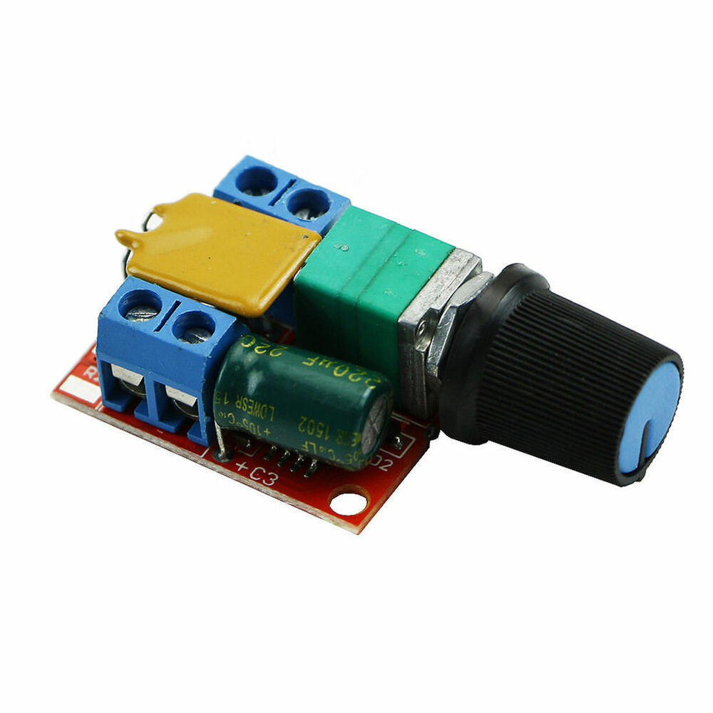 Mini dc 3v 35v 5a motor pwm speed controller speed control for Two speed motor control