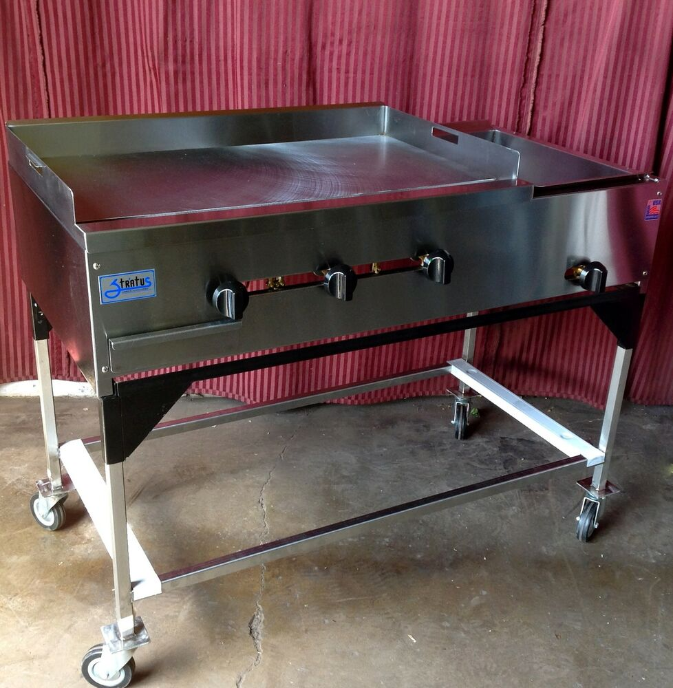 New 48 Quot Taco Cart Griddle Amp Steam Table Propane 1234