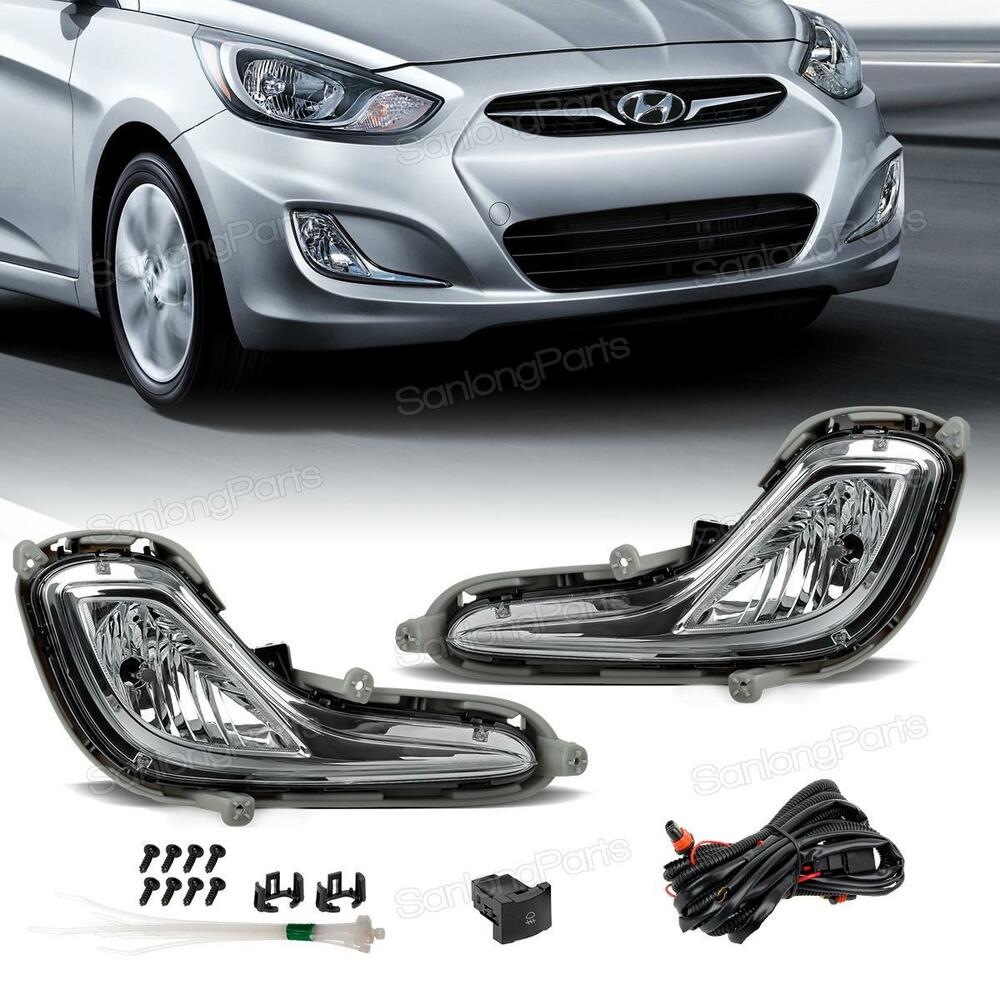 For 2011 2015 Hyundai Accent Front Bumper Fog Lights