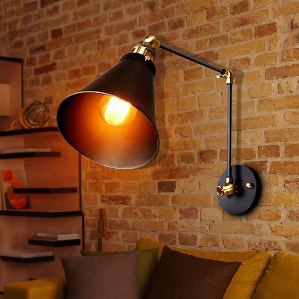 Vintage Retro Industrial Swing Arm Sconce Wall Light Loft