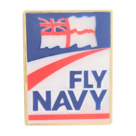 img-Royal Navy RN White Ensign & Fly Navy Logo Pin Badge - MOD Approved