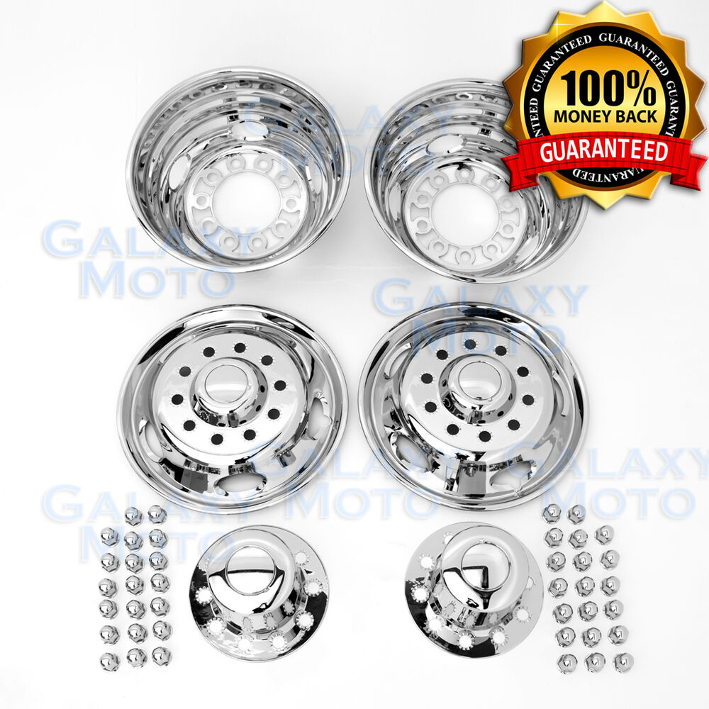 05 17 Ford F450 F550 Dually Chrome 19 5 Quot 10 Lug Wheel