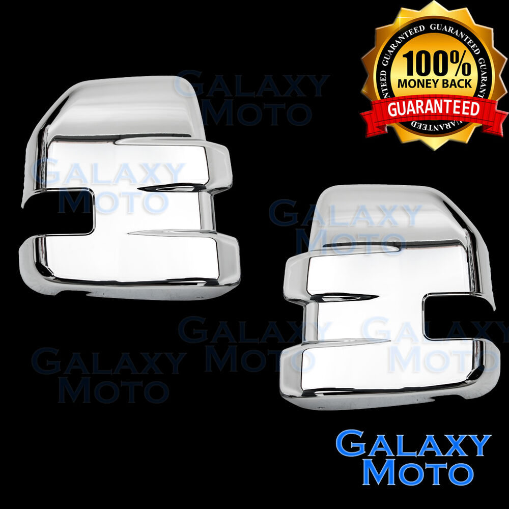 15 17 Ford F150 Triple Chrome Plated Full Towing Mirror Cover 1 Pair 2017 Truck Ebay