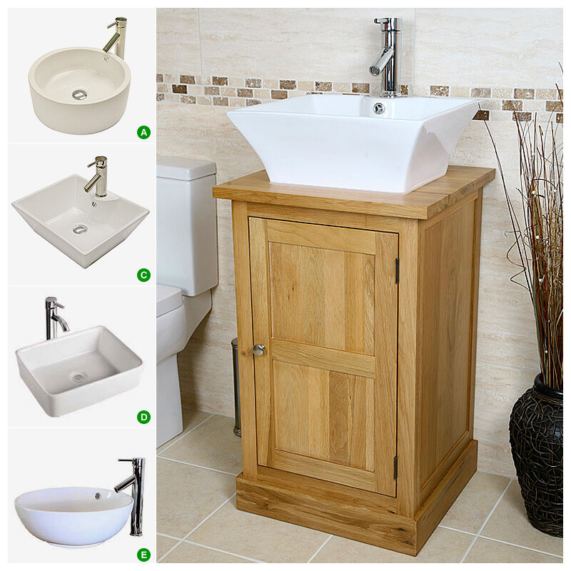 bathroom furniture cabinet solid oak vanity unit wash stand cabinet basin sink tap 11502