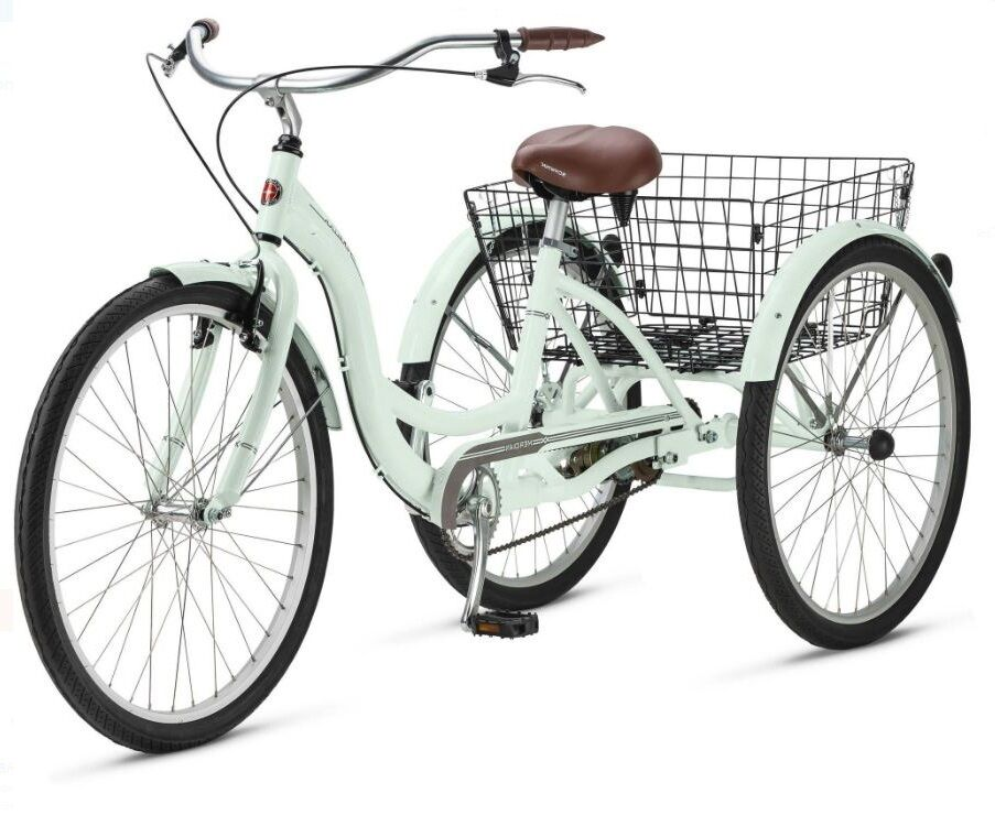 Adult aluminum three wheel bicycle