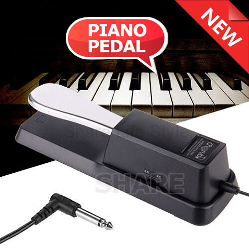 Piano sustain pedal damper foot switch for electric for Yamaha keyboard on ebay
