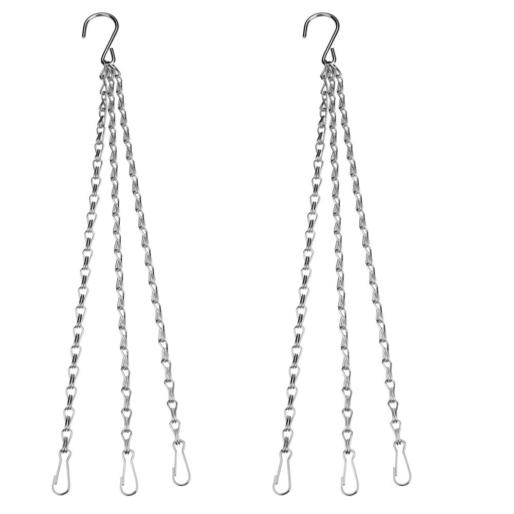 2x Replacement Iron Hanging Chain For Garden Planter