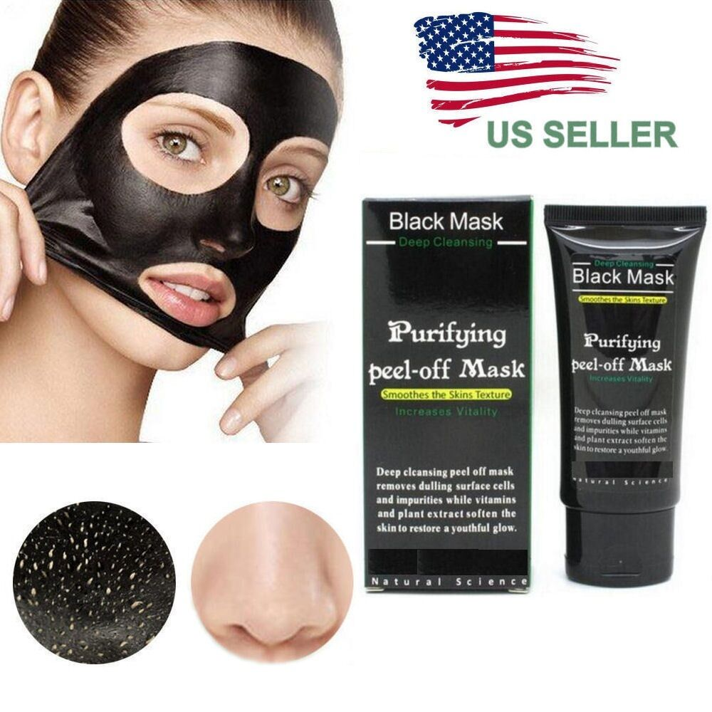 All Natural Charcoal Blackhead Mask Made With 2: Purifying Black Peel-off Mask Facial Cleansing Blackhead