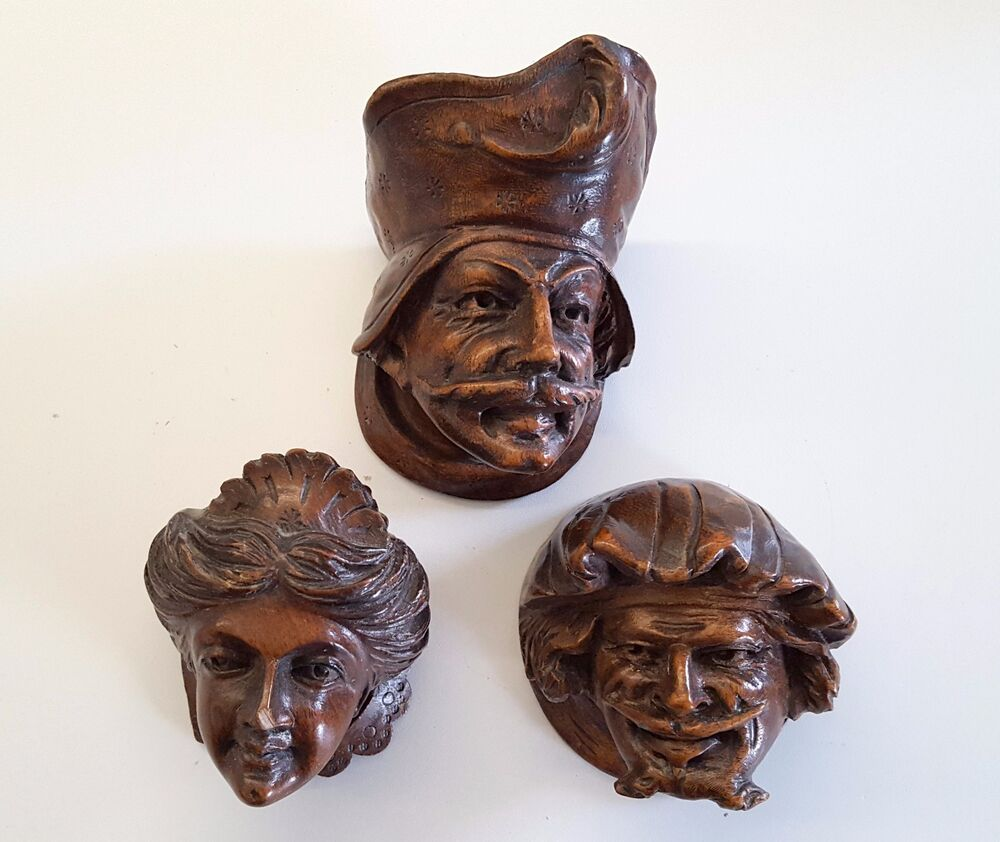 Antique french carved wood furniture decor face neo