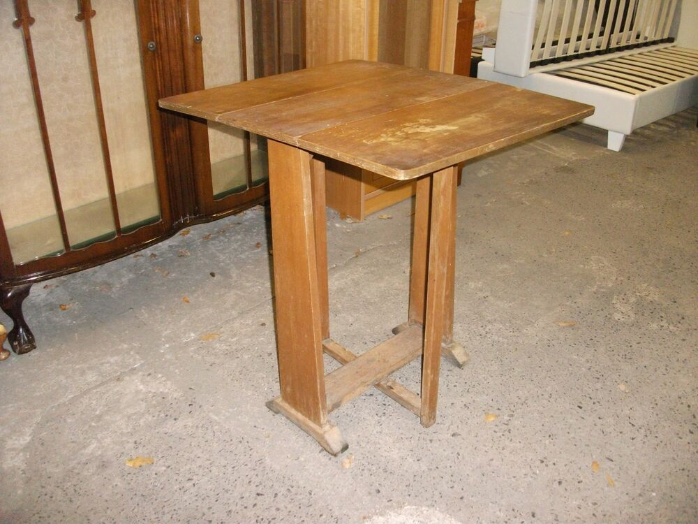 painting project unusual small vintage drop leaf kitchen table space saving old ebay. Black Bedroom Furniture Sets. Home Design Ideas