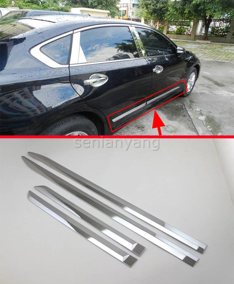 Chrome Side Body Door Molding Cover Trim for 2016-2017 Nissan Altima ABS Protect | eBay