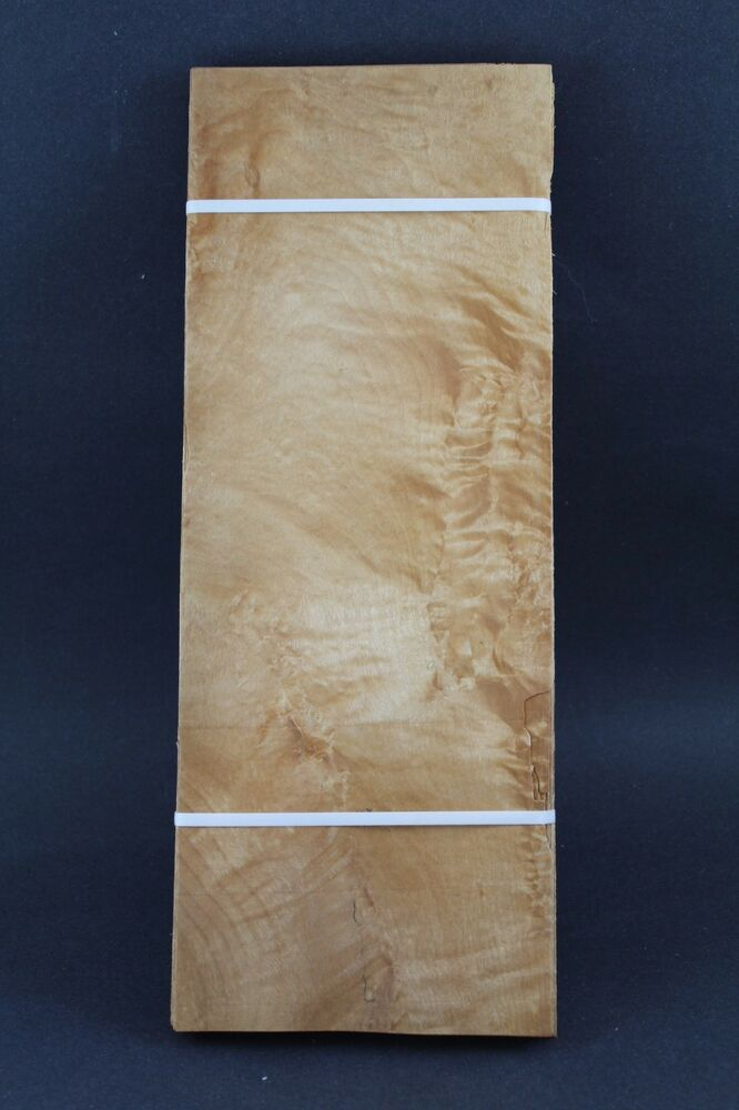 Quilted maple molted raw wood veneer quot