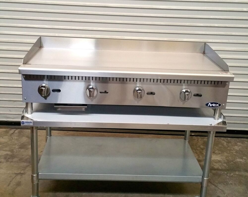 Griddle Tops For Gas Grills ~ New quot gas griddle stand atosa atmg commercial