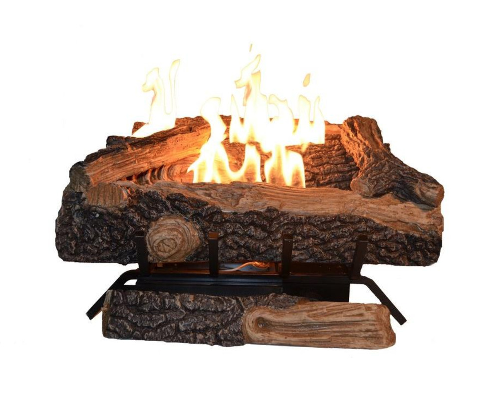 24 In Vent Free Propane Gas Fireplace Logs Heater