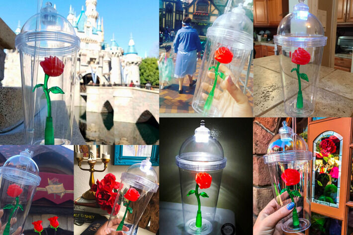 Beauty And The Beast Enchanted Rose Souvenir Cup Light Up